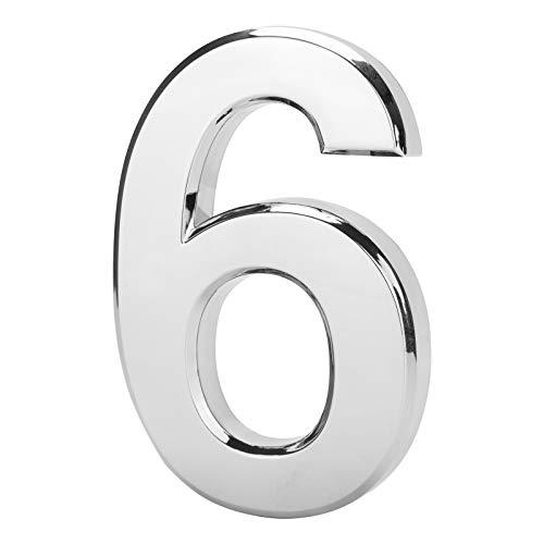 LUTER 12 cm 3D Casella Postale Numero 0-9, Impermeabile Autoadesivo Numero di Indirizzo Porta Della Casa 0-9 Adesivo per Cartelli Cassetta Postale, Residenza, Ufficio (6)