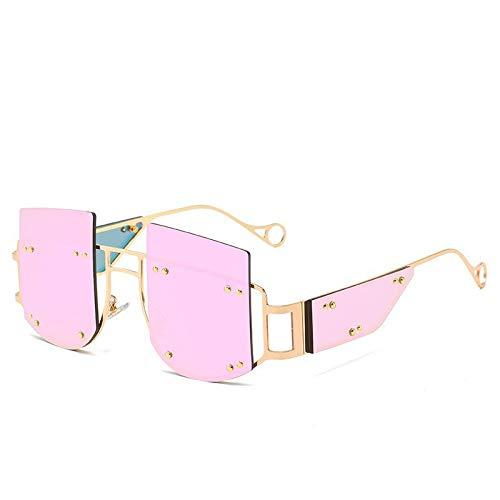 Randlose Sonnenbrille, Fashion Trend Streetshot Persönlichkeit Rosa Linsen, Langlebig Gestell Aus Metall, 100% Uv-Schutz,Männlichen Und Weiblichen Gläser, Rahmenlose Brille, Angeln Und Basketbal