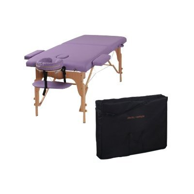 "The Best Massage Table 3"" Purple Portable Massage Table - PU Leather High Quality - By Heaven Massage"