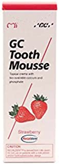 GC Tooth Mousse Pasta de dientes 35 ml de fresa, Pack de 2 (2x 35ml)
