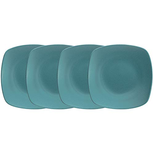 "Noritake Colorwave Turquoise Quad Plate, Mini, Set of 4, 6 1/2"" in Blue"