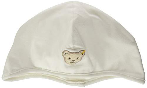 Steiff Baby-Unisex mit süßer Teddybärapplikation Mütze GOTS, Cloud Dancer, 039