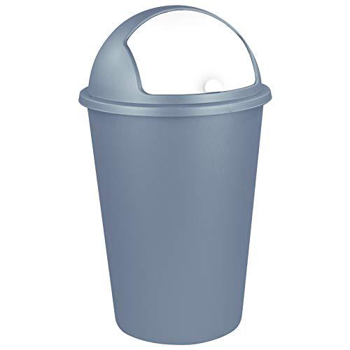 TW24 Abfalleimer 50L mit Farbauswahl - Kosmetikeimer - Mülleimer - Badezimmereimer - Abfallbehälter (Rauchblau)