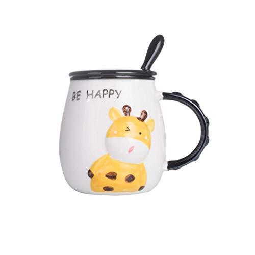 Teesets Mit Teekanne, Kaffeetassen 1 Packung Keramik-Kaffeetasse, Lustige Keramik-Kaffeetasse Mit Edelstahllöffel Und Deckel, 450-Milliliter-Tasse Mit Großer Kapazität, Personalisiert Für Opa, Oma,