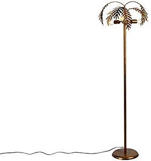 Qazqa Lampadaire | Lampe sur pied Rustique - Botanica Lampe Doré/Laiton - E27 - Convient pour LED - 3 x 60 Watt