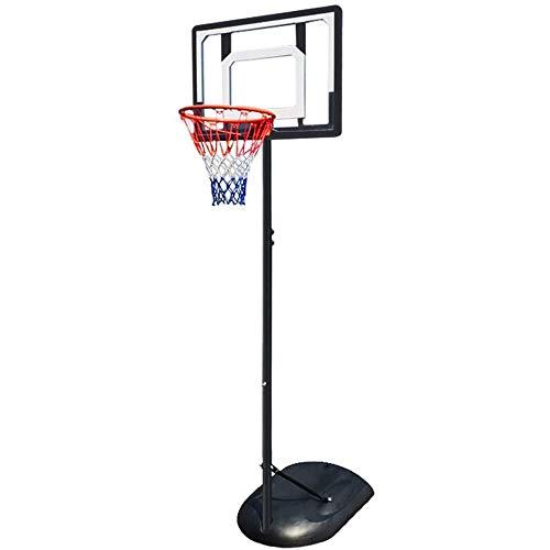 MGIZLJJ Canasta Baloncesto Portátil de Soporte del Tablero Trasero del aro de Baloncesto Polo de Acero del Sistema con el Tablero Trasero y Las Ruedas Altura