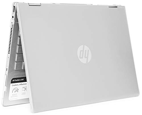 mCover Hard Shell Case for 14' HP Pavilion X360 14-CDxxxx / 14-DDxxxx Series Convertible 2-in-1 laptops – HP-PX360-14CD Clear