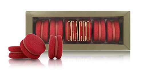 Cracco Baci Fragola, Rivisitazione dei Biscotti Baci di Dama, 6 Biscotti alla Fragola, Peso Netto Tot.: 170 Grammi