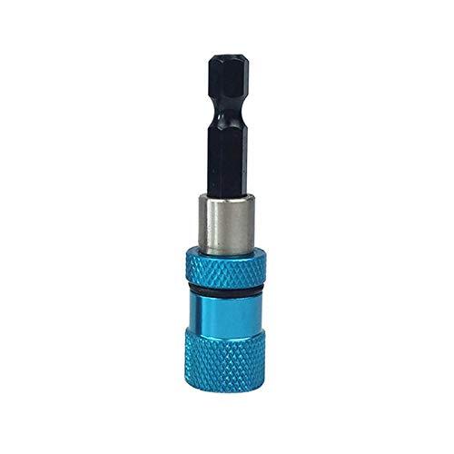 VIAIA 1 Pieza Soporte de Destornillador de bits magnético de liberación de 1 Pieza 1/4'Hex Shank Magnético Magnético Tornillo de Tornillo Tornillo de bit Herramienta de Tornillo (Color : Azul)