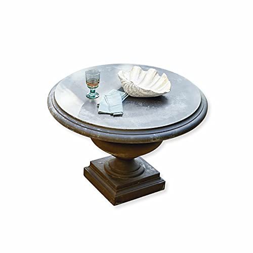 Loberon Tisch Monterey, Steingemisch, H/Ø ca. 78/100 cm, grau
