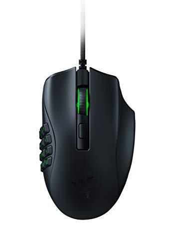 Razer Naga X - Mouse da Gaming Ergonomico per MMO con 16 Pulsanti Programmabili (Switch Ottico per Mouse, Sensore Ottico Avanzato 5G, Chroma RGB, Cavo Speedflex), Nero