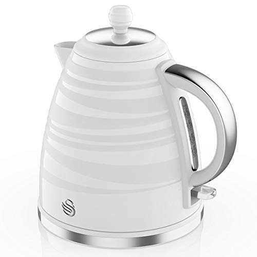 Swan SK31050WN, Symphony 1.7 Litre Jug Kettle with Rapid Boil, 3000 Watts, White