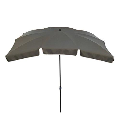 greemotion Sonnenschirm mit UV-Schutz - Balkonschirm in Anthrazit-Grau - Gartenschirm knickbar - Terrassenschirm rechteckig - Outdoor-Schirm für Balkon, Terrasse & Garten