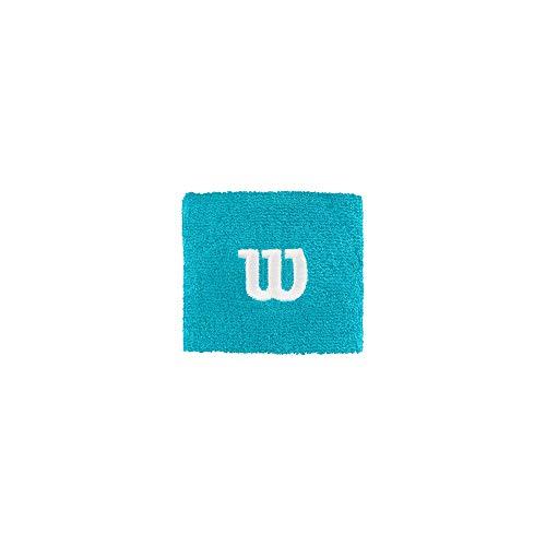Wilson WR5602017 Polsino da Tennis, in Spugna, Taglia Unica, Azzurro (Scuba Blue)