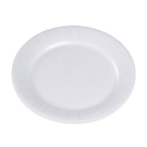 Le Mantel de la mesa 48855000H 100 platos de cartón, 23 cm, color blanco FSC