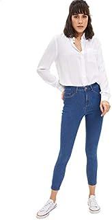 DeFacto Side Pocket Slim-Fit Jeans for Women - Blue, 28