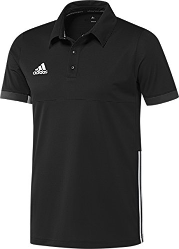 adidas Herren Polo Hemd T16 Team, Schwarz/Weiß, M