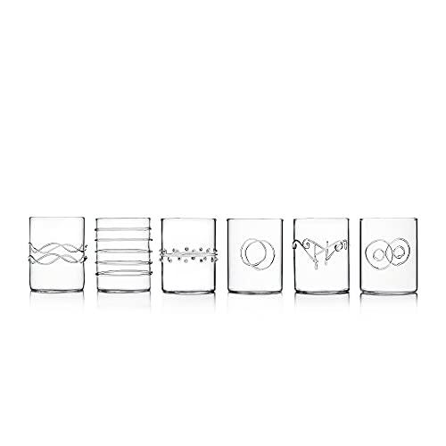 Ichendorf Milano Set 6 Bicchieri Lavorati A Mano, 7 cm, 6 unità