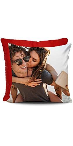 Cuscino con Foto da Personalizzare 40x40 cm. Retro Rosso