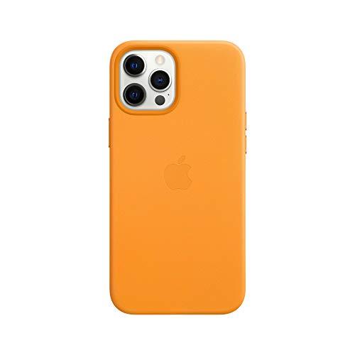 Apple Leder Hülle mit MagSafe (für iPhone 12 Pro Max) - California Poppy - 6.7 Zoll