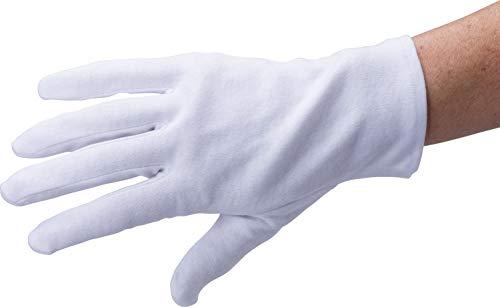 3 paia, Guanti in cotone bianco, Cotone morbido, taglia L, 100% cotone - Guanti da lavoro, ispezione monete argento gioielli by ARTUROLUDWIG