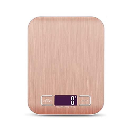 DEF Escala de Cocina Digital 11lb/5kg Escala de Alimentos con Pantalla LCD retroiluminada, Herramienta de pesaje para Hornear para cocinar 1g de Alta precisión