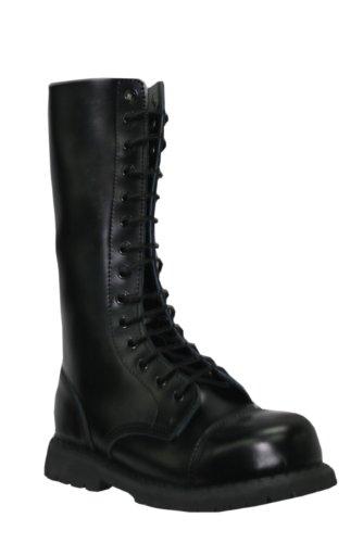 meuleuses haute Ranger (Herald) Noir 14 trous pour homme Chaussures de sécurité Coque en acier pour femme - Noir - Noir , 37