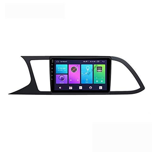 LNHJZ Android 9.0 Car Stereo Unidad Principal Doble DIN Compatible con Seat Leon 2013-2018 Navegación GPS Pantalla táctil 9 Pulgadas Reproductor Multimedia MP5 Receptor Video y Radio con 4G WiFi DSP