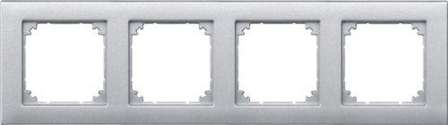 Merten 1325500 Rahmen 486460 4fach Aluminium M-PLAN