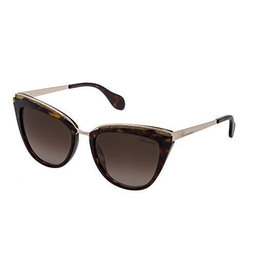 Blumarine SBM766S 0722 55-19-135 - Gafas de sol para mujer, color habana oscuro brillante