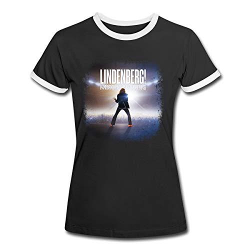 Lindenberg! Mach Dein Ding! Filmplakat Frauen Kontrast T-Shirt, M, Schwarz/Weiß