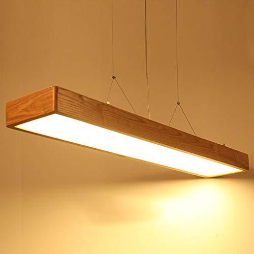 XCY Utile Lampadario Creativo Filetto Led Ufficio Lampadario Semplice Legno Solido Lungo Ufficio Illuminazione Commerciale Luce Del Pendente
