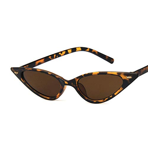 Único Gafas de Sol Sunglasses Gafas De Sol De Ojo De Gato Sexis para Mujer, Gafas De Sol Clásicas Triangulares Pequeñas