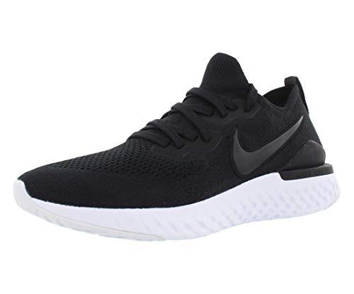 Nike Men's Epic React Flyknit Running Shoes, Black/Gunsmoke, 11