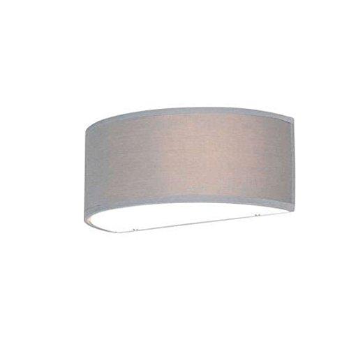 QAZQA Modern Wandleuchte halbrund grau - Trommel/Innenbeleuchtung/Wohnzimmerlampe/Schlafzimmer/Küche Glas/Textil Rund/Kugel/Kugelförmig/Länglich LED geeignet E27 Max. 1 x 40 Watt