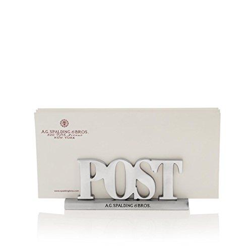 Accessorio scrivania post porta lettere in alluminio | Spalding & Bros. | 862781-Alluminio