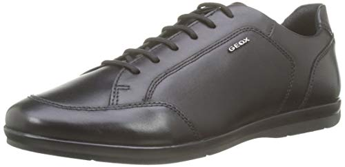 Geox U Adrien A, Zapatos de Cordones Derby para Hombre, Negro (Black C9999), 42 EU