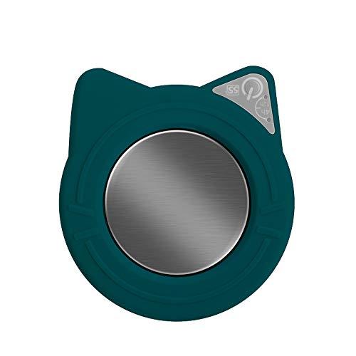 Tassenwärmer Getränkewärmer Tassenwärmer Pad Mit Automatischem EIN/Ausschalten Konstante Temperatur 55°C  Für Verschiedene Tassenformen Verwendung für Haushalt/Büro zum Erwärmen von Kaffee (Grün)