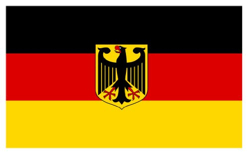 Flagge BRD m. Motiv