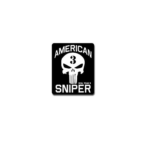 Copytec Aufkleber/Sticker - American Sniper TYP2 Scharfschütze Heckenschütze Spezialeinheit US Army USA Navy Seal Militär Emblem 6x7cm #A4242