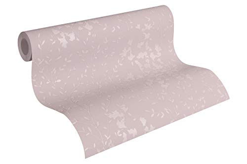 Designdschungel by Laura N. Vliestapete floral glänzend 10,05 m x 0,53 m braun metallic rosa Made in Germany 360822 36082-2
