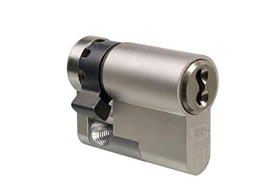EVVA 4KS Halbzylinder mit 3 Schlüssel + Sicherungskarte, Hochsicherheits-Zylinderschloss, Schließanlage, einzelschließend oder gleichschließend, Länge A:77 mm