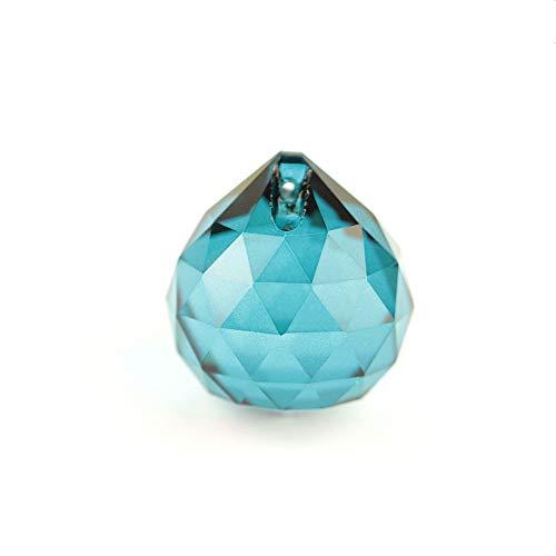 L Color Color Color Prisma Colgante Colgante Feng Shui Crystal Faceted Ball para Decoración Colgante (Color : Zircon Blue, Size : 15mm 8pcs)