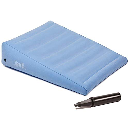 Contour Inflatable Back Support Relief Bed Wedge Cushion - Extended Length, Gradual Incline Wedge, (32 x 24 x 7)