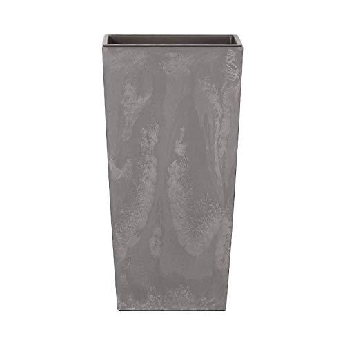 Maceta Alta 11,4 L Prosperplast Urbi Square Effect de plástico con depósito en Color Gris Claro,...