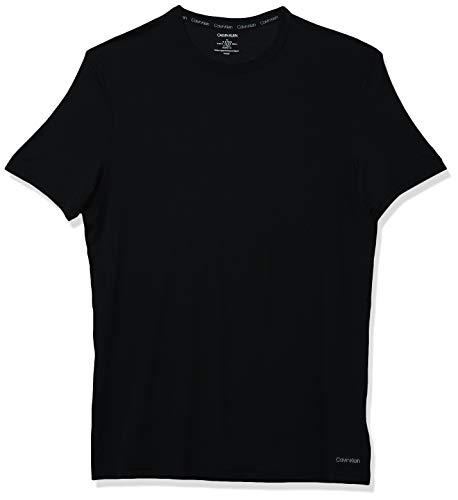 Calvin Klein Men's Ultra Soft Modal Crew Neck T-Shirts, Black, M