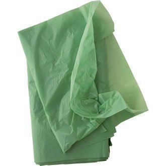 Colour Coded Bin Liners - Colour: green. Capacity: 80 litre. Roll of 50. by Jantex