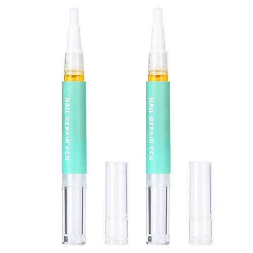 3 ml 2 pcs Nail Repair Pen Sérum Sans Irritation Nail Art Primer Nail Care Liquide pour Renforcer les Ongles Durcissants