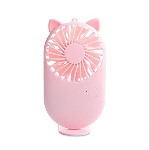 Ventilador de bolsillo USB de carga mini ventilador de mano estudiante al aire libre con Sika portátil pequeño ventilador DC mini refrigerador ventilador gato rosa