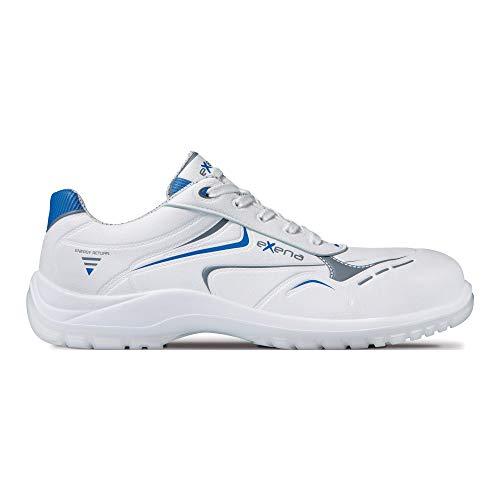 Exena ONICE S3 - Zapatos de seguridad antideslizantes con puntera protectora, color blanco, color Blanco, talla 41 EU